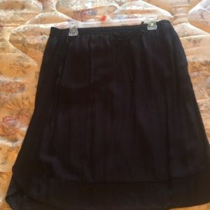 Dark Navy skirt size m loft